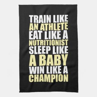 Workout Motivation - Win Like A Champion Kitchen Towels
