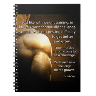 Workout Motivational Words - Challenge and Growth Notebooks