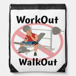 WorkOut or WalkOut - Drawstring Bag