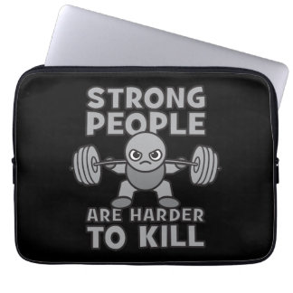 Workout - Strong People Are Harder To Kill, Kawaii Laptop Sleeve