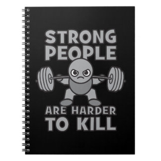 Workout - Strong People Are Harder To Kill, Kawaii Notebook