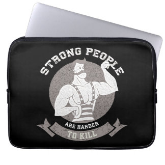Workout - Strong People Are Harder To Kill Laptop Sleeve