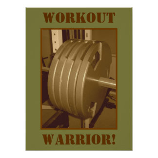 WORKOUT WARRIOR! Weightlifting Exercise Poster