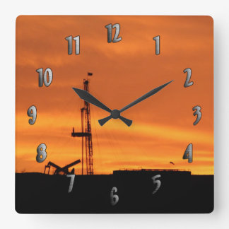 Workover Rig Site at Sunset Clock