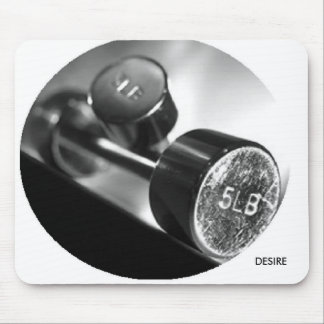Workplace dumbbells mouse pad