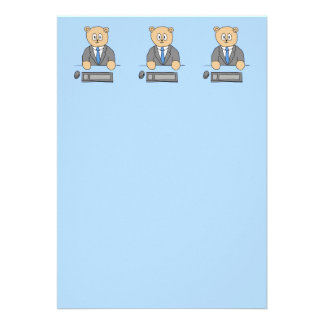 Works in an Office Blue Tie Announcements