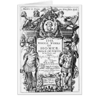 Works of Homer Card