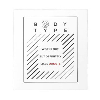 Works Out Loves Donuts Notepad