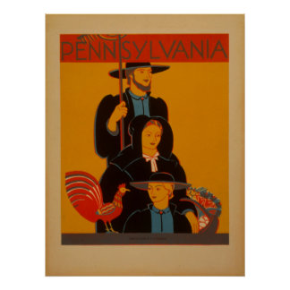 Works Progress Administration Pennsylvania Vintage Poster