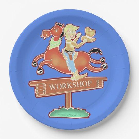 Workshop Cowboy paper plate