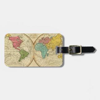 World. 3 luggage tag