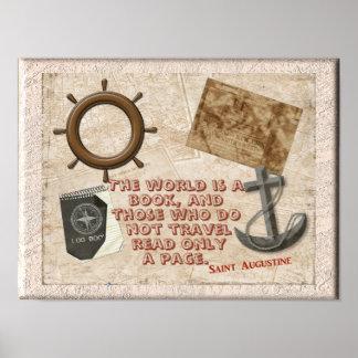 World A Book - Saint Augustine quote _Art Print