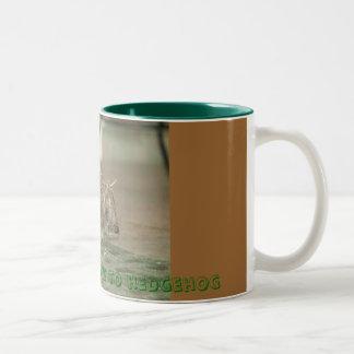 World according to hedgehog Two-Tone coffee mug