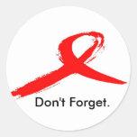 World Aids Day Round Sticker