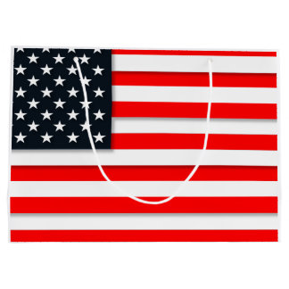 World American Flag USA Large Gift Bag