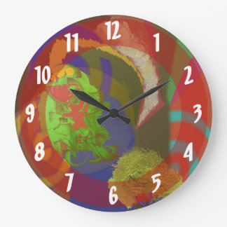 World Apart-Abstract Clock for Unusual People