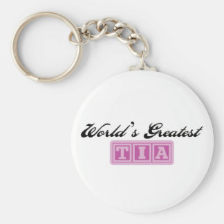 World's Greatest Tia Keychain