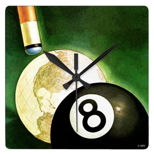 World as Cue Ball Clocks