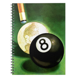 World as Cue Ball Spiral Note Book