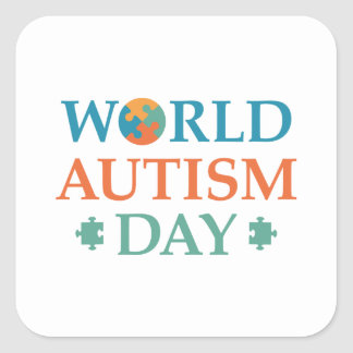 World Autism Day Square Sticker