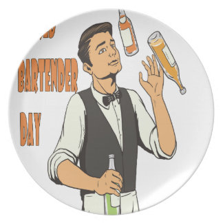World Bartender Day - Appreciation Day Party Plates