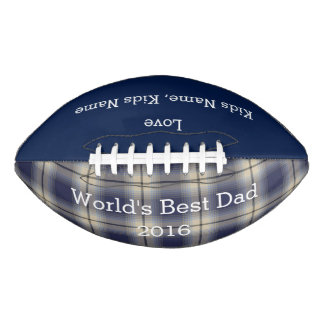World Best Dad, Customizable Football Gift,