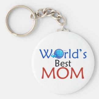 Worl'd Best MOM - Keychain