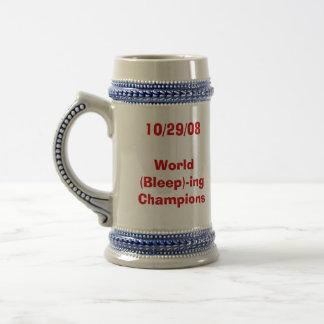 World (Bleep)-ing Champions Stein 18 Oz Beer Stein