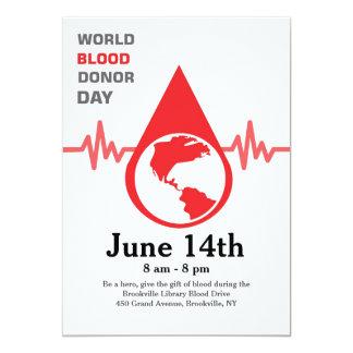 World Blood Donor Day Card