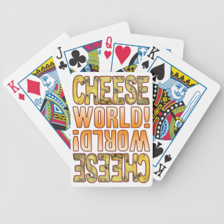 World Blue Cheese Bicycle Playing Cards