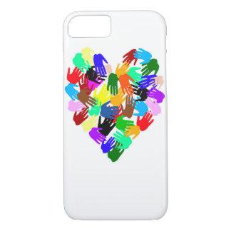 World Brotherhood Many Colors Hand Prints iPhone 7 Case