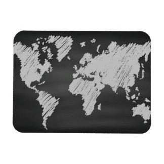 World Chalkboard Map Magnet