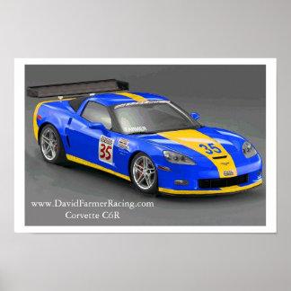 World Challenge C6 Z06 Corvette Poster