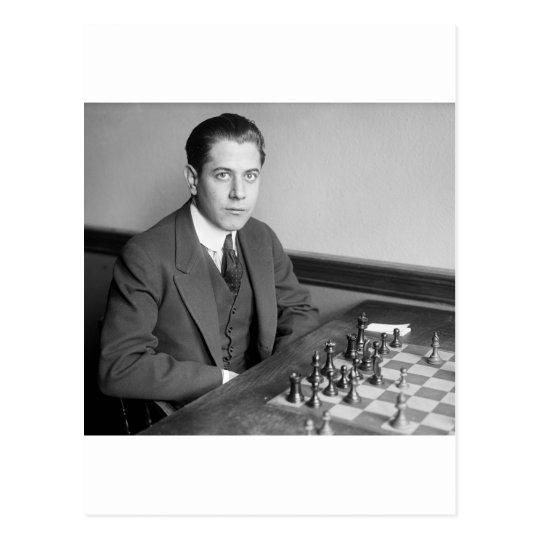 World Champion Chess Player, 1915 Postcard