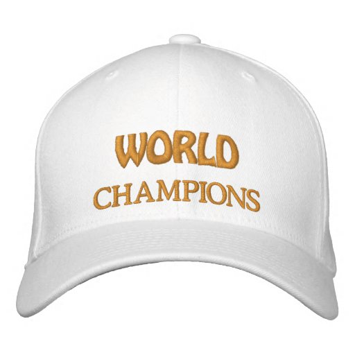 World Champion Hat Embroidered Hats