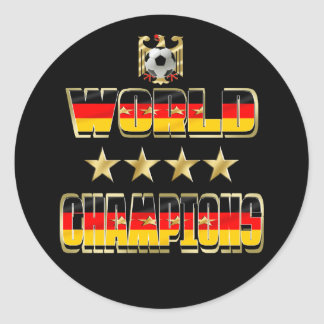 World Champions Germany Fans Flag 2014 Classic Round Sticker