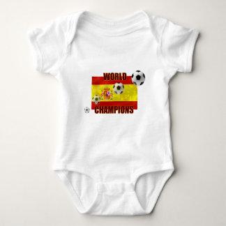 World Champions Spain flag soccer ball 2010 Baby Bodysuit
