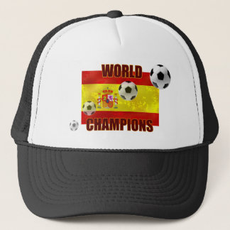 World Champions Spain flag soccer ball 2010 Trucker Hat