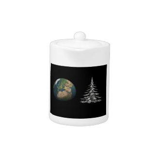 world christmas and fir tree