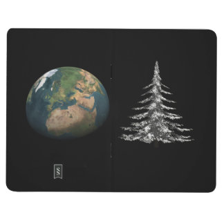 world christmas and fir tree journal