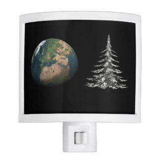 world christmas and fir tree nite lites
