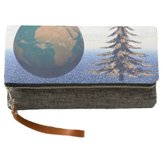 world christmas and snow clutch
