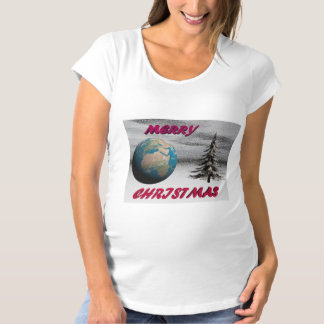world christmas and snow maternity T-Shirt