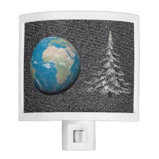 world christmas and snow nite light
