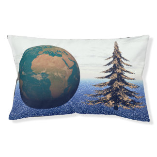 world christmas and snow pet bed