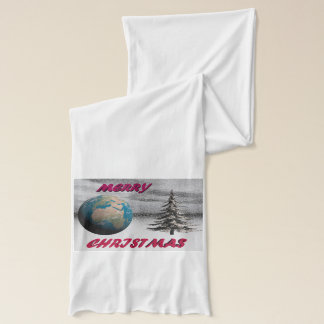world christmas and snow scarf