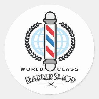 World Class Barber Shop Classic Round Sticker