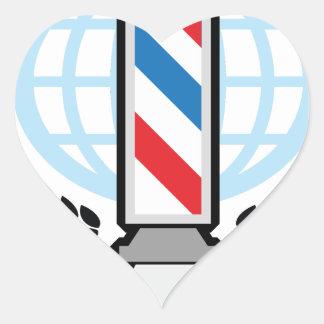 World Class Barber Shop Heart Sticker