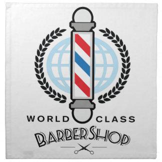 World Class Barber Shop Napkin
