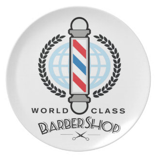 World Class Barber Shop Plate